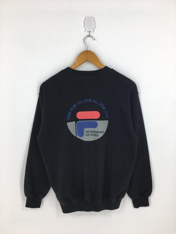 Fila Intimo 90's Sweater Medium Vintage Fila Biell