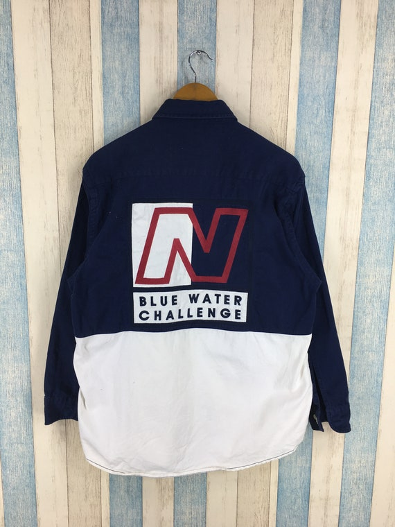 Vintage Nautica Blue Water Challenge Shirt 90's Na