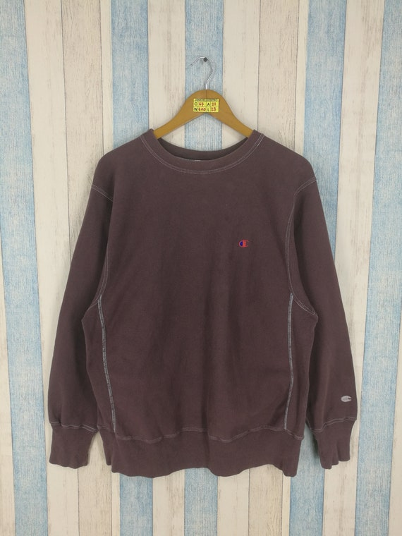 Champion Reverse Weave Sweatshirt Large Brown Vint
