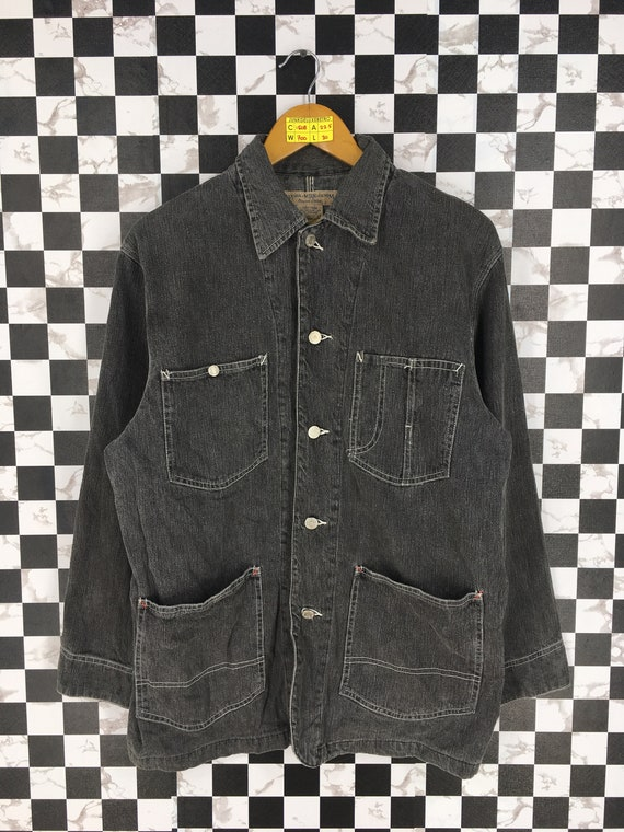Vintage Work Jeans Denim Jacket Medium 1990's Work