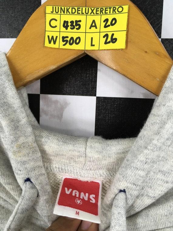 Vans Hoodie Sweatshirt Medium Vintage 90's Vans O… - image 3