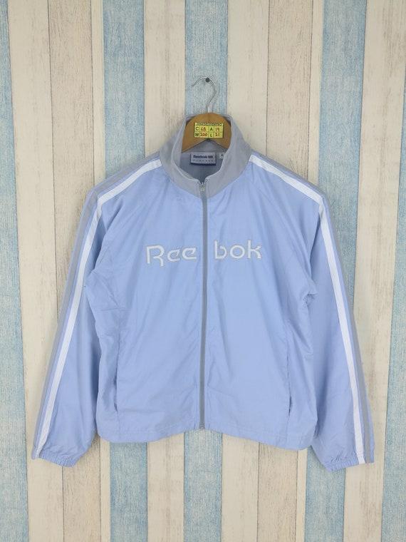 Reebok Jacket Ladies Windbreaker Medium Blue Vinta
