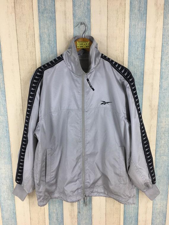Reebok Windbreaker Jacket Medium Vintage 90's Reeb