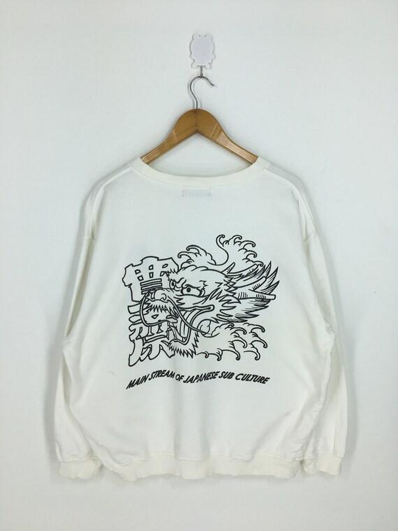 Kansai Man Dragon Head Japan Sweatshirt Large Vint