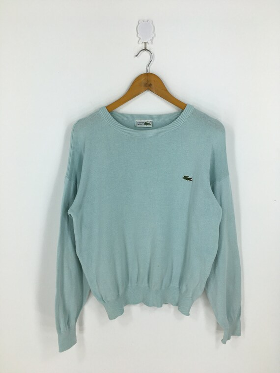 Chemise Lacoste Sweatshirts Small Green Vintage 90