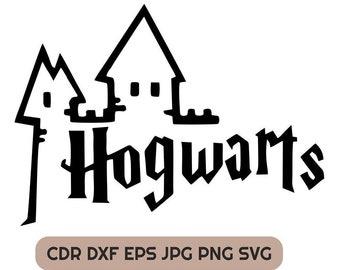 Hogwarts Wizard School Eps Emblem Harry Potter Clipart Files Etsy