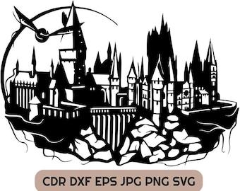 Hogwarts Svg Etsy