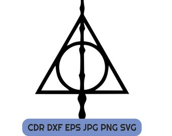 Deathly Hallows Svg Etsy