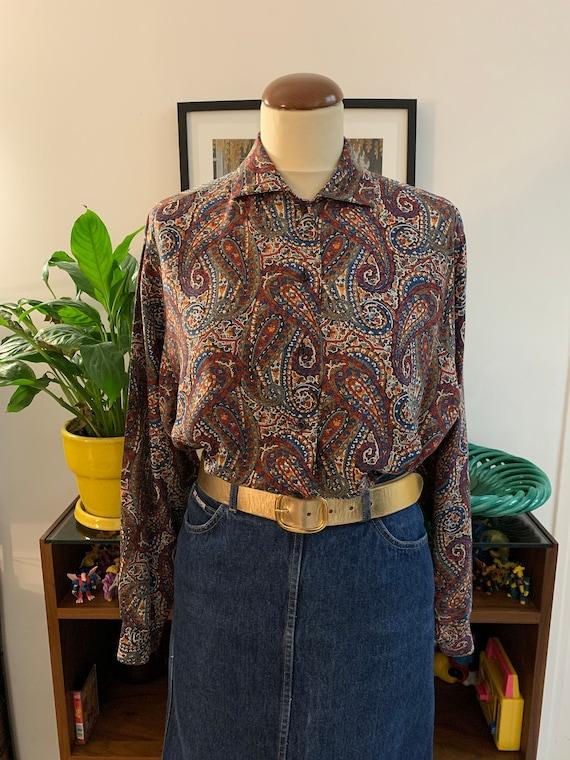 Vintage Cacharel paisley blouse