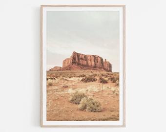 Desert Print, Pastel Desert Printable Wall Art, Arizona Desert Digital Download, Arizona Desert Wall Art, Desert Landscape Print