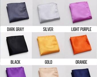 Organic Silk Pocket Square White Fashion Charmeuse Silk - Silk Hanky Gift Pocket squares in white Wedding Handkerchief