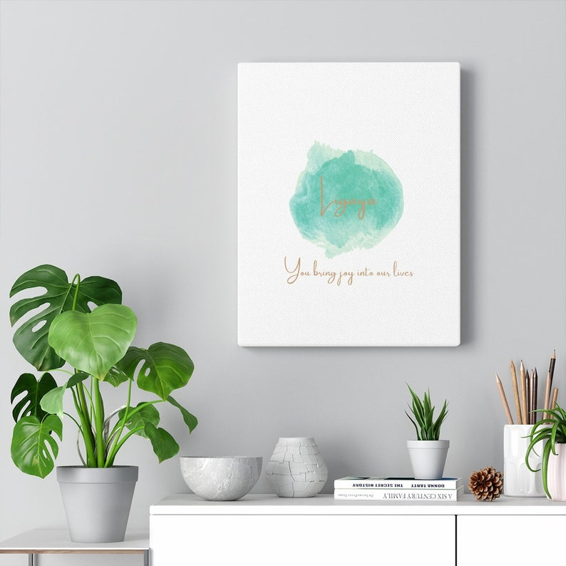 With qoute You bring joy into our lives Canvas Gallery Wraps Ligaya meaning Joy in Tagalog