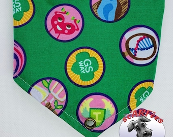 Size Small Girl Scouts Brownie Dog Scarf-Bandana Scarfee - Make New Friends But Keep The Old!