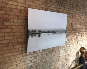 Black and White Photograph Ireland, Irish River, Irish Otter Swimming, River Blackwater County Waterford, irish river photograph