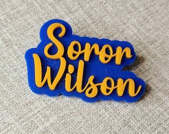 Sigma Gamma Rho Name pin | Badge | Lapel pin | Soror pin | Sorority Pin | Last Name pin