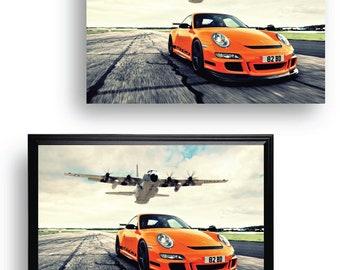 Porsche 911 Carrera RSR Home Wall Decor Art Oil Painting Canvas Print 16x24