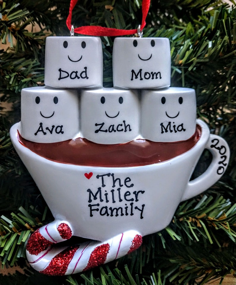 Personalized Coco Family of 5 Ornament