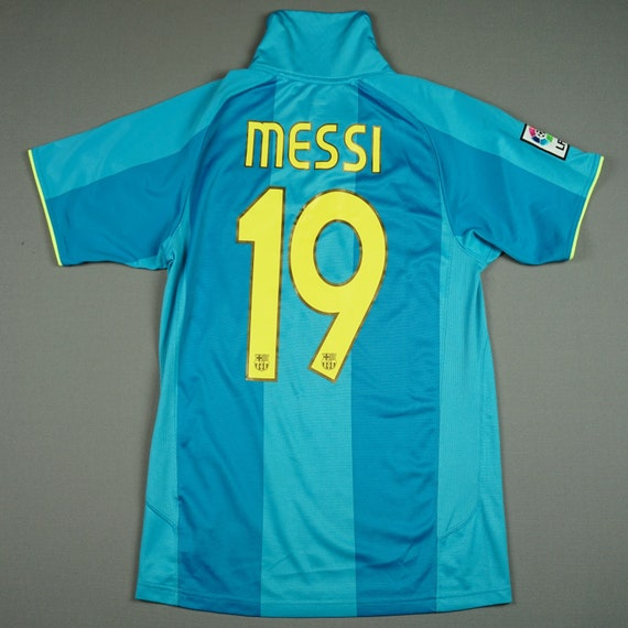 Lionel Messi Fc Barcelona 2007 08 S Away Football Shirt Jersey Etsy