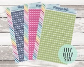 I-500 || Itty Bitty Custom INITIAL SQUARES Planner Stickers photo