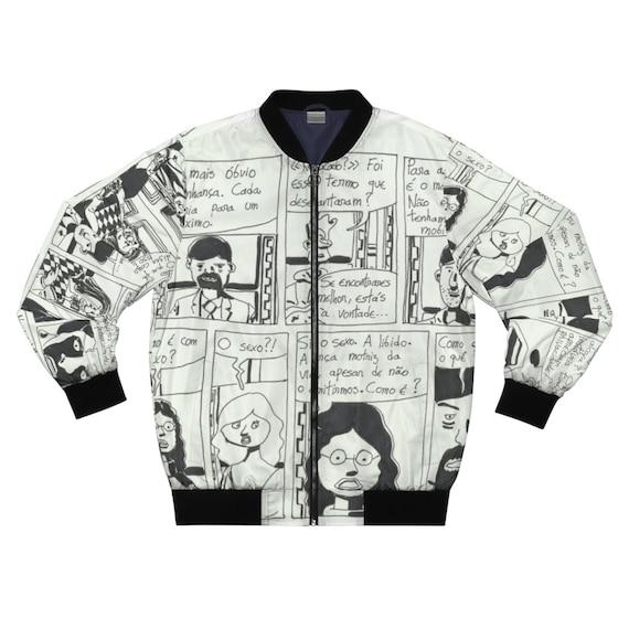 NunoNevesStore Cool Art Bomber Jacket 20 pop art jackets Retro custom gift aesthetic line art