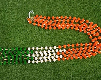 4FT Per String - Indian Wedding Number #1 Diwali Decoration 2020 5-String Indian Heritage Flag Pom Pom Garlands Diwali Festivities
