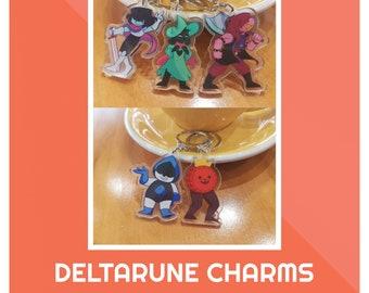 Deltarune Rouxls Kaard Holographic Keychain Charm Delta Rune Undertale Bonus
