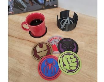 3D Printed Marvel Avengers Campus Coaster Set