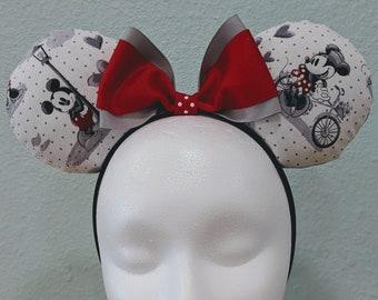 Mickey & Minnie Vintage Look Ears   Disney Hat   Disney Ear Hat   Bucket Hat