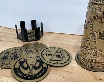 3D Printed Galaxy Edge Oga Cantina / Star Wars Coaster Set
