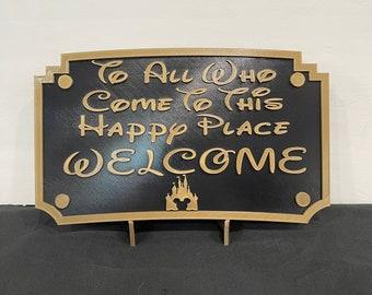 "3D Printed Disneyland ""Welcome"" Sign"