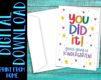 PRINTABLE Preschool Graduation - You're Going to Kindergarten! - DIGITAL DOWNLOAD