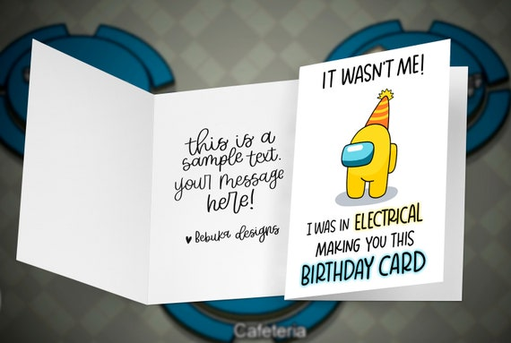 Among Us It Wasn T Me Birthday Card Etsy