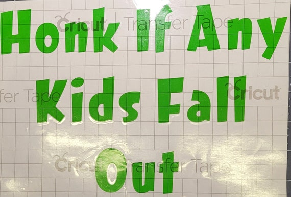 Honk if any kids fall out-decal-car decal