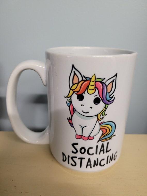 15 oz. Social Distancing Unicorn Mug