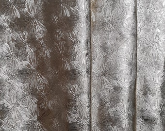 Leather MADE IN ITALY veal suede with Silver Foil and Crocodile print The Leather Shop silver Soft Art CSLA17