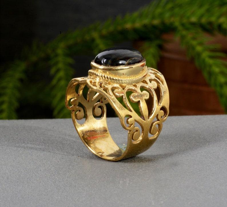 Black Onyx Ring,Gemstone Ring,Handmade Ring,Vintage Ring,Statement Ring,Women Ring,Boho Ring,Anniversary Ring,Unique Ring,Valentine Ring