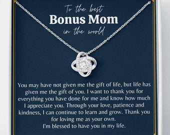 Muse Infinite Stepmom Gifts for My Other Mother Adopted Mother Gifts for Stepmother Necklace Gifts for Stepmom Jewelry Gifts from Stepdaughter Personalized Gifts
