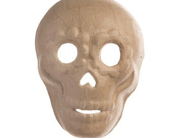 Paper Mache Day of the Dead Mask: 6.88 x 8 inches