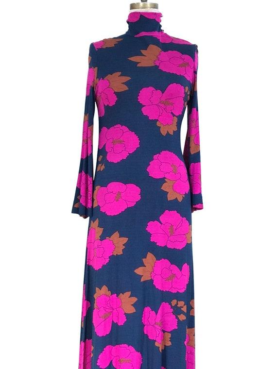 LÉONARD FASHION PARIS vintage dress 1967 long in p