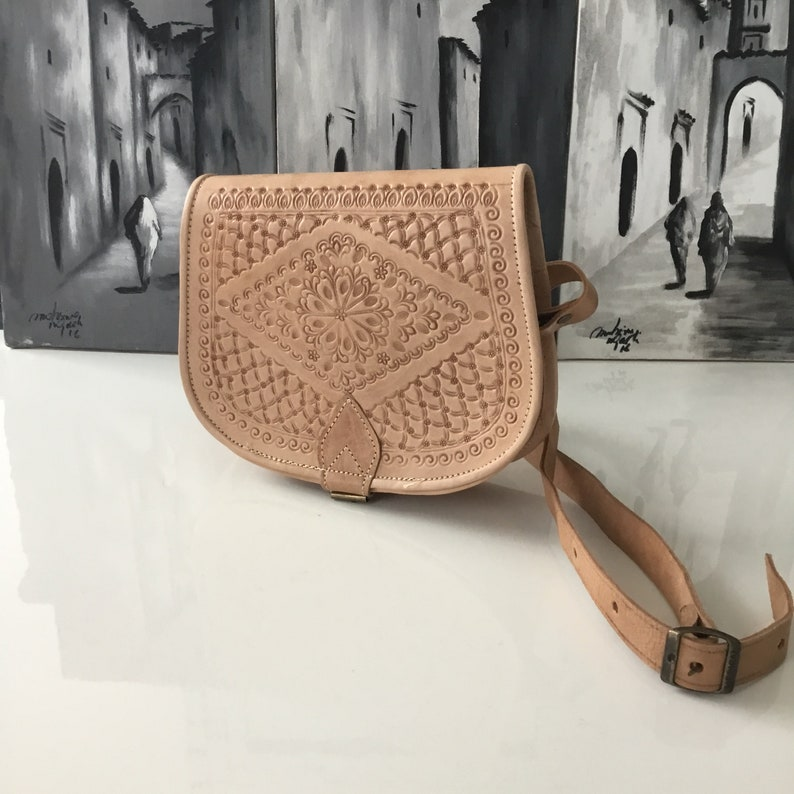 Nude Moroccan Berber Messenger Bag