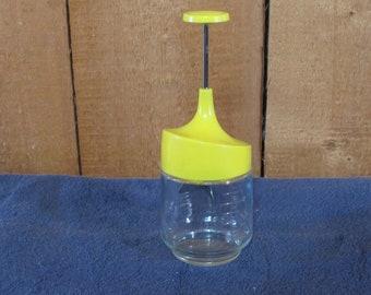 Retro Food Chopper Food Processor Kitchen Gadget Gemco White Plastic Glass Photo Prop RhymeswithDaughter