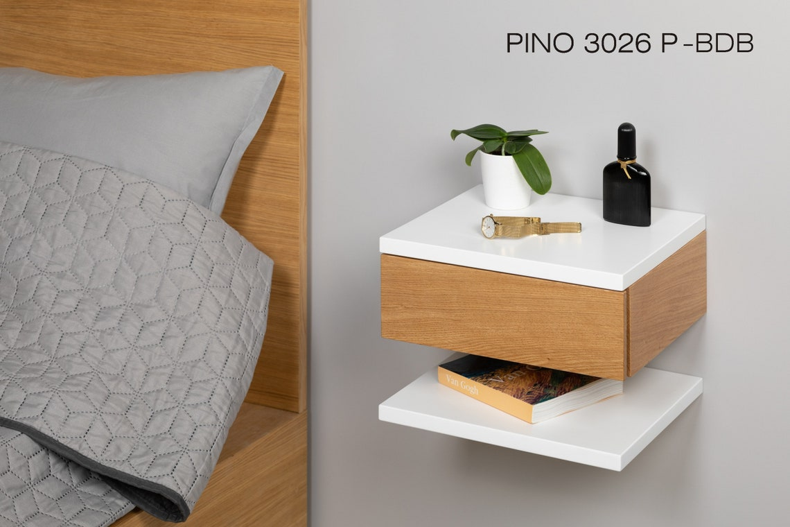 Floating Night Stand, Floating Bedside Table