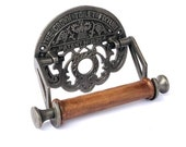 THE CROWN Toilet Fixture Rustic Toilet Roll Holder in Cast Iron - Bathroom Decor - Gifts