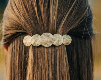 Hair barrette Hair Accessories Big Hair French Barrette Gift Mom Black Hair Clip Hair Barrette