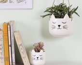 Cat 39 s Whiskers Hanging Planter Planters Cat Lovers Gift Ideas Cute Plant Lovers Secret Santa Ideas Animal Lover Gifts