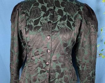 Vintage Victorian style brocade jacket approximately size 10