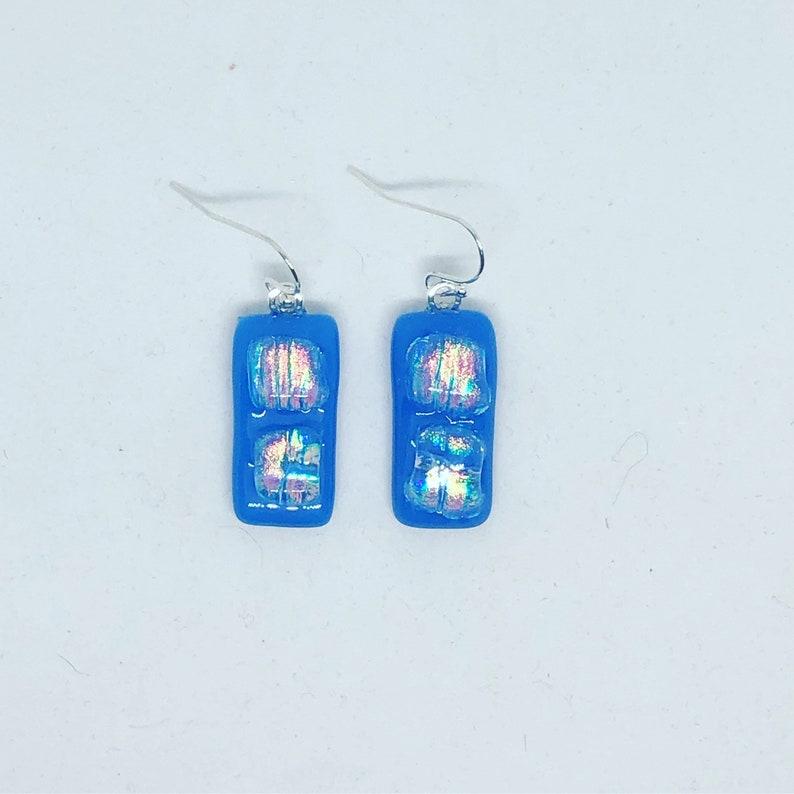 Fused Glass Earrings #178