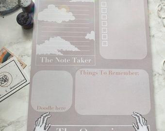 A4 The Organiser Notepad, tarot notepad, organising notepad, lined notepad, planner, weekly planner, organiser