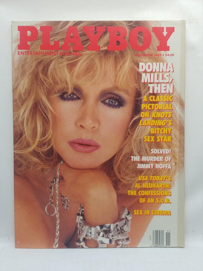 PLAYBOY NOVEMBER 1989-F - RENEE TENISON - DONNA MILLS NUDE