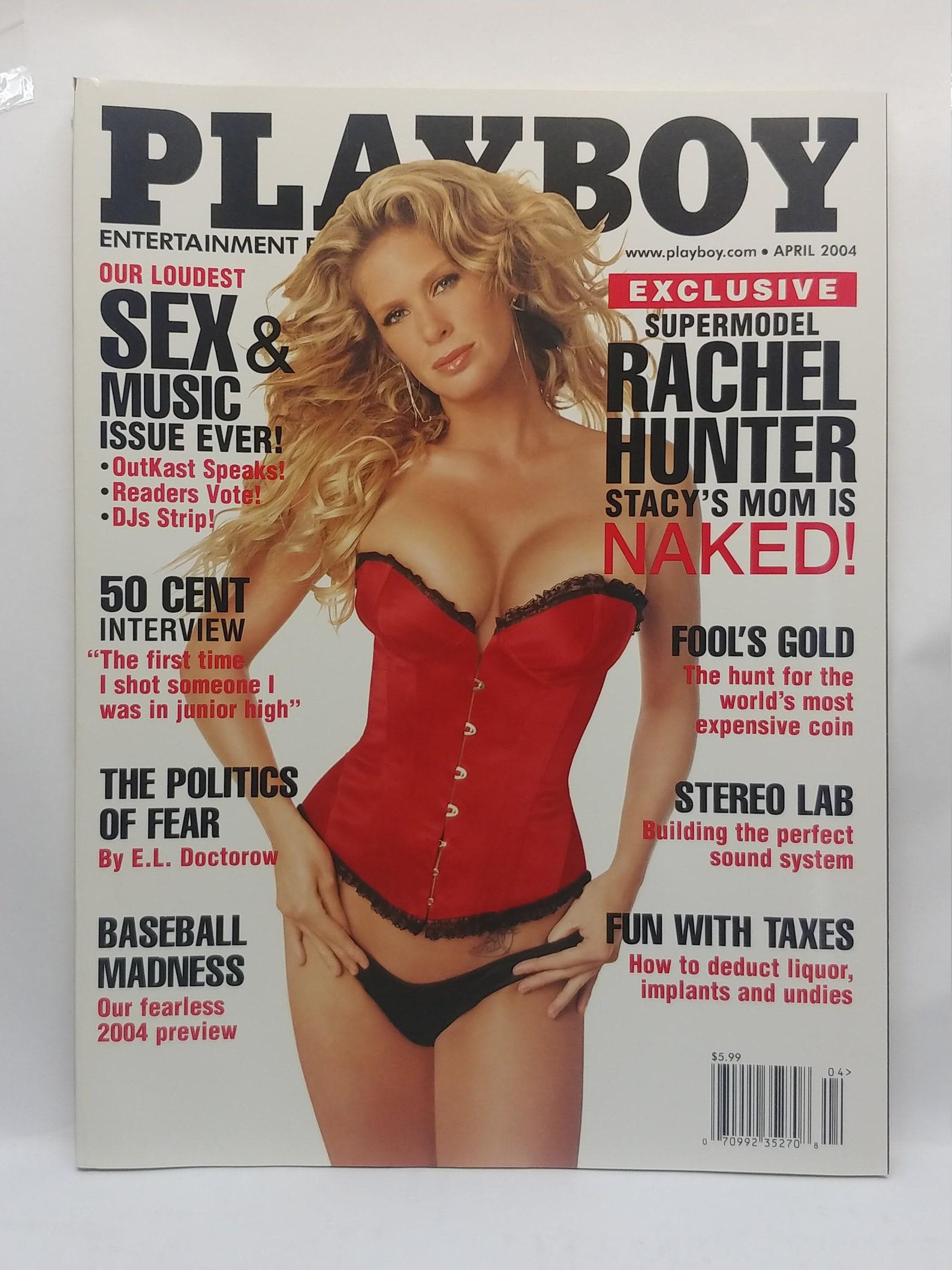 Playboy Magazine April 2004 With Supermodel Rachel Hunter